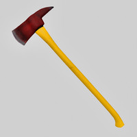 axe firefighter tool 3d model
