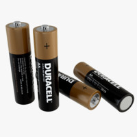 duracell battery cell obj