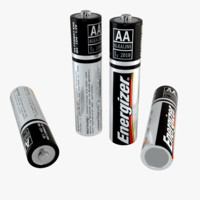 3d model energizer battery