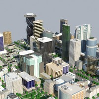 city block cityscapes 3d max