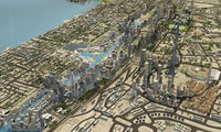 dubai city jumeirah garden 3d model