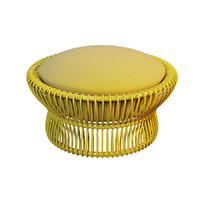 outdoor rattan ottoman taiko 3d model