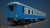 3d turkish passenger cars blue model