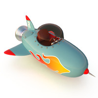 Cartoon Space Rocket ship