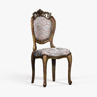 baroque chair 3d model