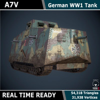 real time ready a7v 3d model