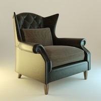 Black Leather armchair interior