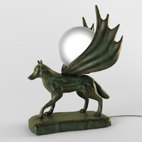 lamp in the form of a wolf
