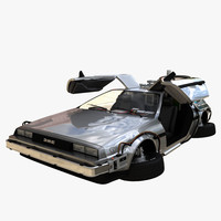 3d delorean time machine