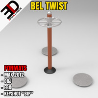outdoor bel twist 3d max