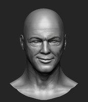 david gilmour head sculpt obj