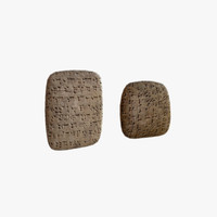 cuneiform clay tablets 3d max