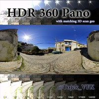 360 hdr pano cobblestone road 3ds free