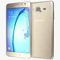 3d realistic samsung galaxy on7 model