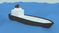 style cargo ship - 3ds