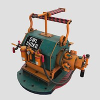 steampunk engine 3d max
