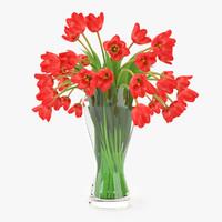 tulips flowers 3d model