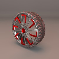 3d model uniformed red silver generic car