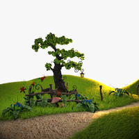 scene plants 3d model