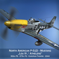 3d north american - lou model