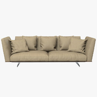 flexform evergreen sofa 3d model