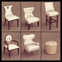 1d seat chair 3d model