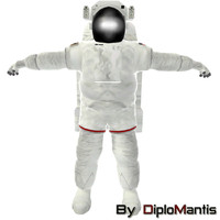 3d astronaut space model