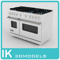 3d model of 48 7 series gas range