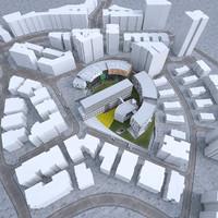 settings buildings 3d model