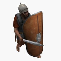 Low-poly Roman Legionary