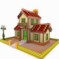 house toon 3d 3ds