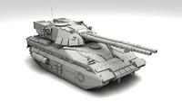 stratos m1 futuristic tank 3d model