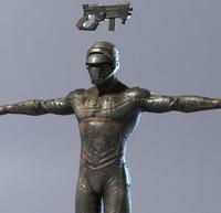 character gun 3d max