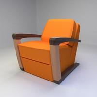 3d model kustom armchair