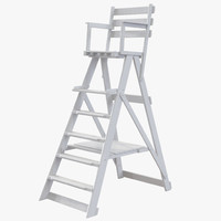 Classic Umpire Chair White