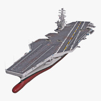 3d uss ronald reagan cvn 76 model