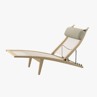 3d model deck chair wegner hans j