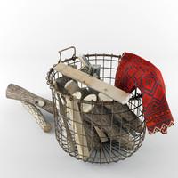 maya firewood wire basket