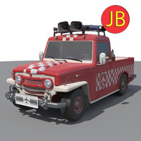 stylized airport car 3d obj