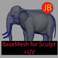 Elephant Base Mesh for Sculpt