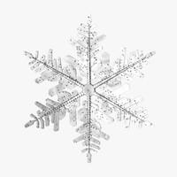 3d model snowflake 3