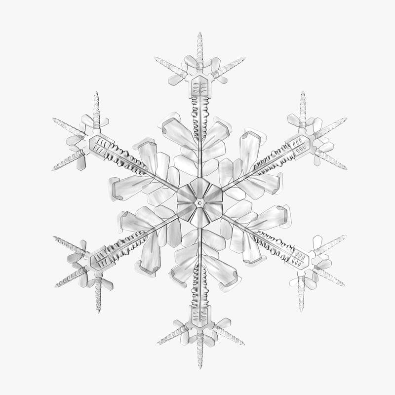 Snowflake 3ds model 01.jpg