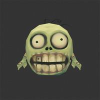 3d model micro zombi brian