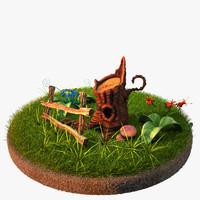 max scene grass plants