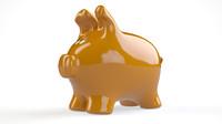 piggy bank c4d