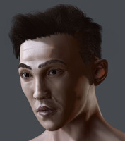 3d model of japanese guy