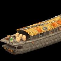 3dsmax chinese junk fishing boat