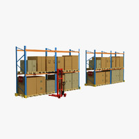 pallet rack stacker 3d 3ds