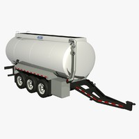 32ft pony tanker trailer 3d model