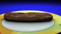 3ds max thuringia sausage thuringian